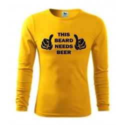 Pánské tričko - This beard needs beer