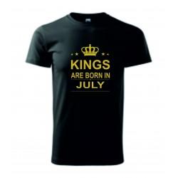 Pánské tričko - KINGS ARE BORN IN .....