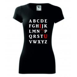 Dámské tričko - Abeceda lásky I.