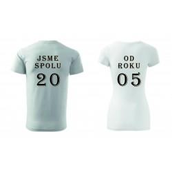 Dámské tričko - JSME SPOLU OD....