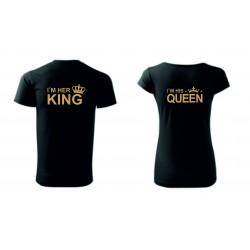 Dámské + pánské tričko - KING QUEEN