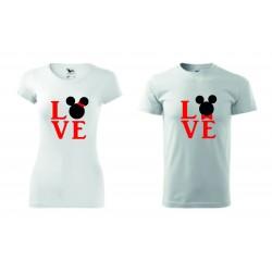 Dámské + pánské tričko - Myšák LOVE