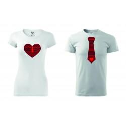 Dámské + pánské tričko - SRDCE KRAVATA