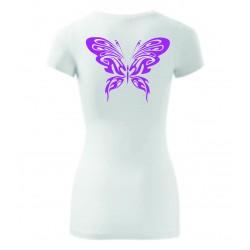 Dámské tričko - Motýl růž.