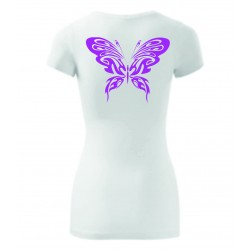 Dámské tričko - Motýl růžový