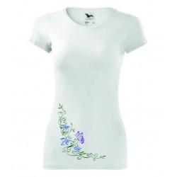 Dámské tričko - Ornament květina s motýlem