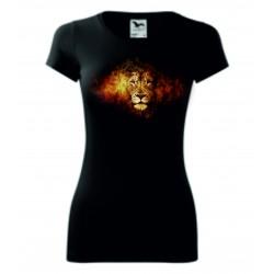 Dámské tričko - Lev v ohni