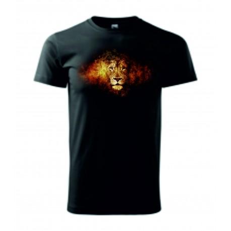 Pánské tričko - Lev v ohni