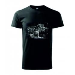 Pánské tričko -Lev a lvice