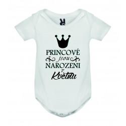 Dětské bodyčko - Princové jsou narozeni v ........