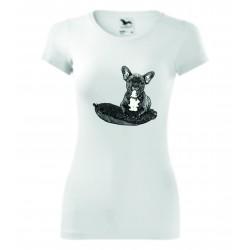 Dámské tričko - Buldoček