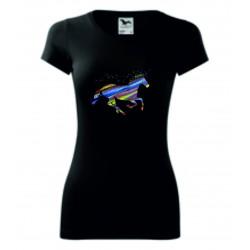 Dámské tričko - Jednorožec barevný
