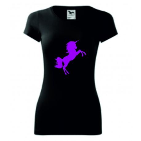 Dámské tričko - Jednorožec růžový