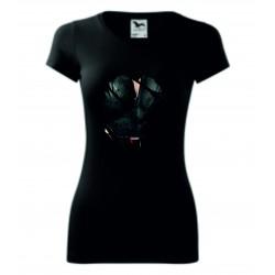 Dámské tričko - Černá vdova - imitace roztrhání