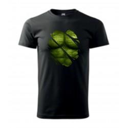 Pánské tričko - Zelené tělo - imitace roztrhání