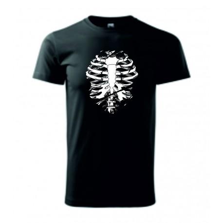 Pánské tričko - Kostra - imitace roztrhání