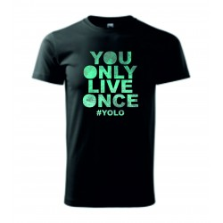 Pánské tričko - YOLO - ŽIJEŠ JEN JEDNOU